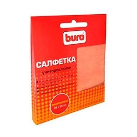 Салфетки чистящие BURO BU-MF из микрофибры универсальные,для экранов,25х25см
