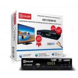 Цифровая приставка DVB-T2 D-Color DC1002HD HDMI 1080p/RCA/TimeShift/ТВгид/запись