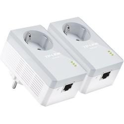 Адаптер Powerline TP-Link TL-PA4010PKIT (Комплект из 2-х адаптеров Powerline AV 500 Мбит/с,со встроенной розеткой)