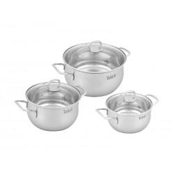Набор посуды TalleR TR-7120 Бригг кастрюли 24см/5.2л,20см/3.2л,18см/2.2л,крышки,индукция+доска разделочная с лопаткой