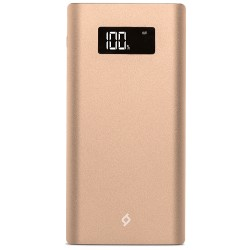 Аккумулятор внешний 10000 mAh TTEC AlumiSlim LCD 1A+2.1A золотой (2BB130A)