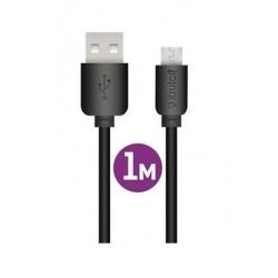Дата-кабель USB-microUSB Krutoff Classic 1м черный
