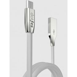 Дата-кабель для Apple Lighting Dotfes A04 Zinc Alloy gray 1м