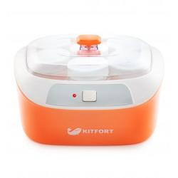 Йогуртница Kitfort КТ-2020 White/orange 20Вт, 6*170мл