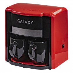 Кофеварка Galaxy GL 0708 Red (750Вт,0.3л,капельная,тип кофе: молотый)