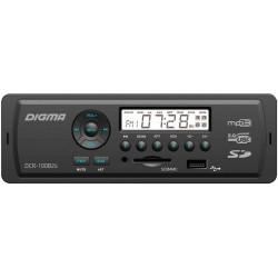 Автомагнитола Digma DCR-100B24 1DIN, 4x45Вт, MP3, FM, USB, AUX