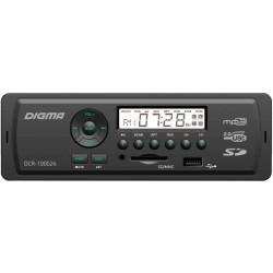 Автомагнитола Digma DCR-100G24 1DIN, 4x45Вт, MP3, FM, USB, AUX