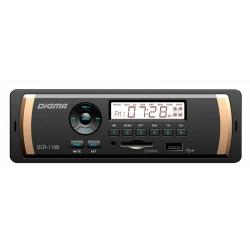 Автомагнитола Digma DCR-110B 1DIN, 4x45Вт, MP3, FM, USB, AUX