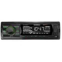 Автомагнитола Soundmax SM-CCR3071F 1DIN, 4x45Вт, MP3, FM, USB, AUX