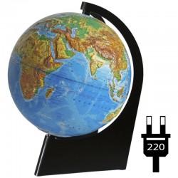 Глобус физический рельефный Глобусный мир, 21см, с подсветкой 10149