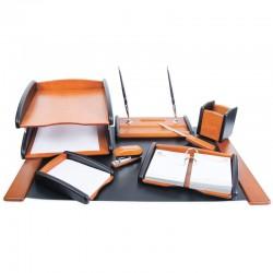 Набор настольный DELUCCI 8 предметов, светлое/черное дерево (MBn 08208)