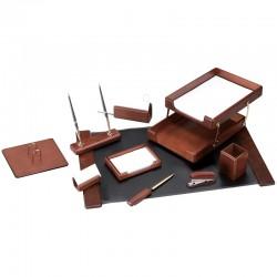 Набор настольный DELUCCI 10 предметов, темно-коричневый орех (MBn 10207)