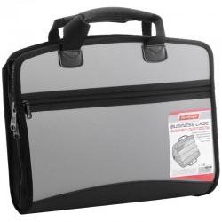 """Папка-портфель BERLINGO 4 отд.""""Silver"""", A4, серый металлик ADb 04028"""
