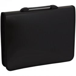 Папка-портфель пластиковый, 1 отделение, Спейс, А4+, 2 кармана, черный 269269