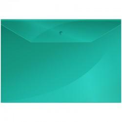 Папка-конверт на кнопке А4 150мкм. Спейс зеленая (Fmk12-3 / 220895)