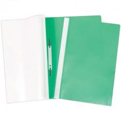 Скоросшиватель пластиковый А4 160мкм. Спейс с прозрачным верхом, зеленый (Fms16-3 716)