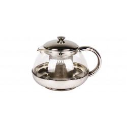 Заварник (чайник) Bekker BK-399 DeLuxe 1л,нерж.сталь и жаропрочное стекло,зерк.поверхность