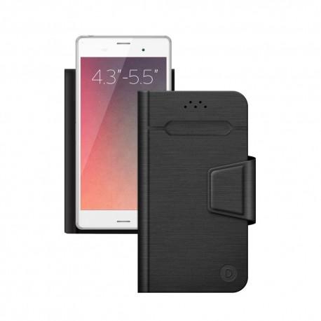 """Чехол-книжка для телефонов 4.3""""-5.5"""" Deppa Wallet Fold M черный (87005)"""
