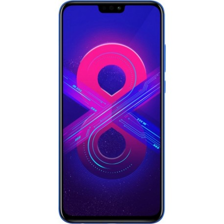 "Смартфон Huawei Honor 8X 128GB Blue 2sim/6.5""/2340*1080/8*2.2ГГц/4Gb/128Gb/mSD/20Мп/Bt/WiFi/GPS/And"