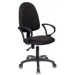 Кресло офисное БЮРОКРАТ CH-1300/BLACK Prestige +  ткань, регулировка высоты, механизм качания, Black