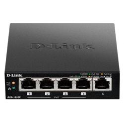 Коммутатор D-Link DGS-1005P (5-ports 10/100/1000 Mbps 1 PoE port 15.4Вт)