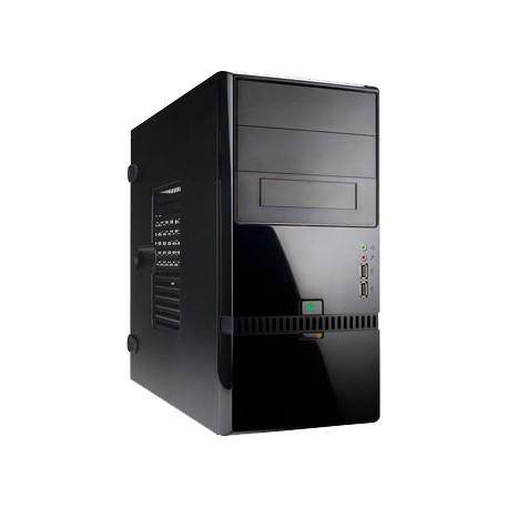 Корпус mATX InWin ENR022BL (USB,Audio,черный,Б/П 400w)