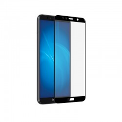 Защитное стекло для Huawei Honor 7A/7A Prime7S/Y5 (2018)/Y5 Prime (2018)/Y5 Lite (2018) с цветной рамкой (fullscreen+fullglue) DF hwColor-57 (black)