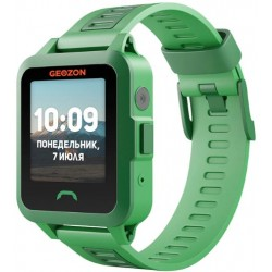 "Смарт-часы GEOZON ACTIVE Green1.44""/IP67/And,iOS/GPS/0.3Мп"