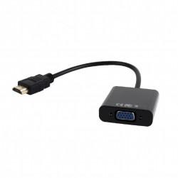 Переходник HDMI(M)-VGA(F) Cablexpert A-HDMI-VGA-04 0,15см