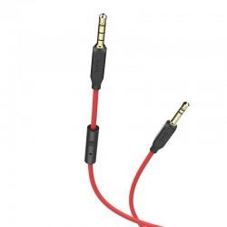 Кабель AUX HOCO UPA12 Series Red (with Mic)