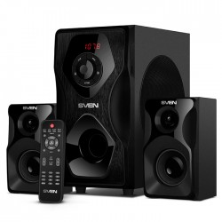Актив.колонки 2.1 Sven MS-2055 55Вт, FM, SD/USB, Bt, ПДУ, питание от сети, MDF, Black