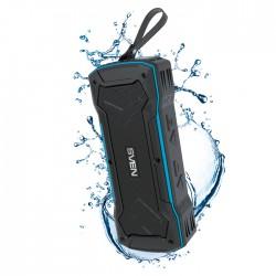 Портативная колонка Sven PS-220 2*5Вт, Bluetooth, питание от батарей, FM, USB, mSD, IPx5, ЧерныйСиний