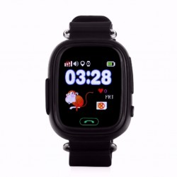 "Смарт-часы Wonlex GPS Kids Watch GW100 Black 1sim/1.22""/LCD/GPS/WiFi/400mAh"
