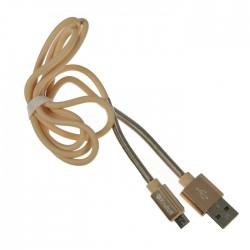 Дата-кабель USB-microUSB Krutoff Spring 1м золотой