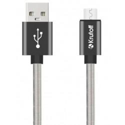 Дата-кабель USB-microUSB Krutoff Spring 1м черный