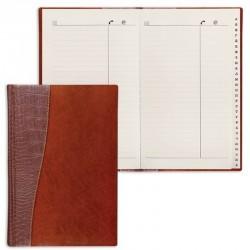 """Телефонная книга BRAUBERG А5 96л. """"Cayman"""" коричневый (125130)"""