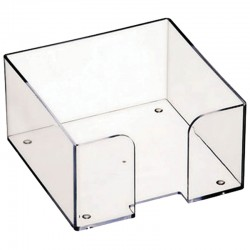 Подставка для бумажного блока 9*9*5, прозрачный СТАММ  (ПЛ61)