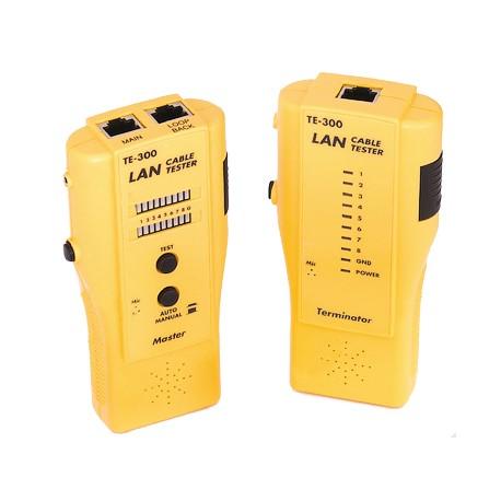 Тестер кабеля NIKOMAX NMC-TE300 UTP/STP,BNC,RJ11,RJ12,RJ45,со встроенным переговорным устройств C241