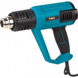 Фен технический Bort BHG-2000L-K 2000Вт, 480 л/мин, темп. 80-600 °C, 4 насадки, кейс