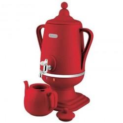 Самовар Добрыня DO-407 Red 1850Вт, 4л, пластик, закрытая спираль, заварник 1л.