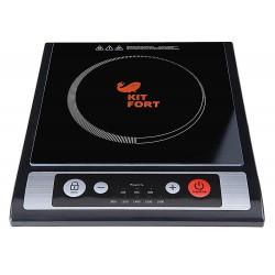 Плита настольная Kitfort КТ-107 Black 1800Вт, конфорок-1, упр. сенсор.