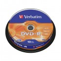 Матрица DVD-R 4,7Gb/ 10шт/16x Verbatim Cake Box (43523)