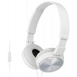 Гарнитура Sony MDR-ZX310AP накладные, 24Ом, 98дБ, кабель 1.2м, White