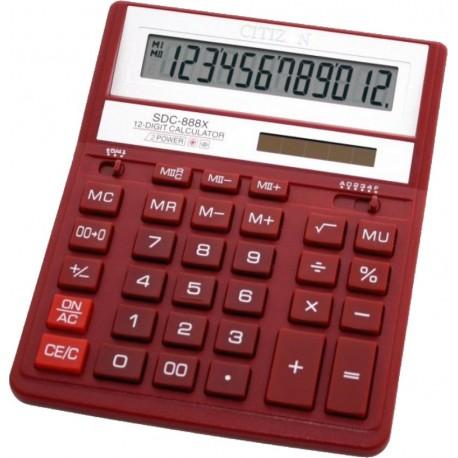 Калькулятор CITIZEN SDC-888XRD 12 разряд, красный