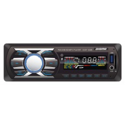 Автомагнитола Digma DCR-300B 1DIN, 4x45Вт, MP3, FM, SD, USB, AUX