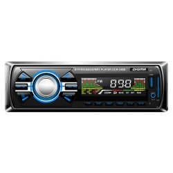 Автомагнитола Digma DCR-340B 1DIN, 4x45Вт, MP3, FM, SD, USB, AUX