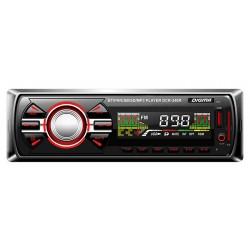 Автомагнитола Digma DCR-340R 1DIN, 4x45Вт, MP3, FM, SD, USB, AUX
