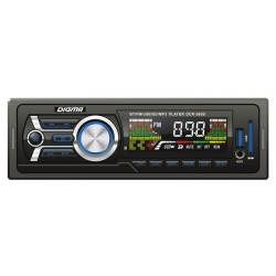 Автомагнитола Digma DCR-360B 1DIN, 4x45Вт, MP3, FM, SD, USB, AUX