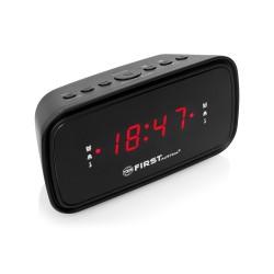 Радиобудильник First 2406-6 Black 24ч. формат, таймер, будильник, FM, СВ, LCD 0.8'' красный