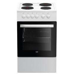 Плита электрическая Beko FSS 56000 W White 3 конфорки, духовка 60л, 50x60x85, механ. управление